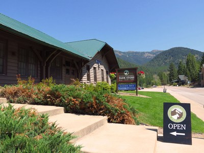 The Glacier National Park Conservancy uses the historic depot as a retail shop and office space.