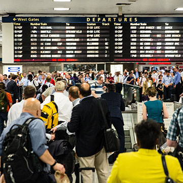 New York Penn Station Crowding on and off the platforms